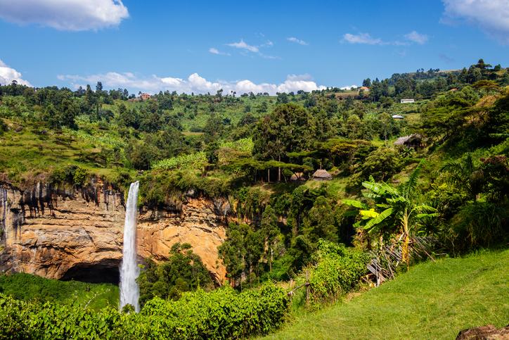 Sipi Wasserfälle in Uganda. Karmalaya in Uganda.