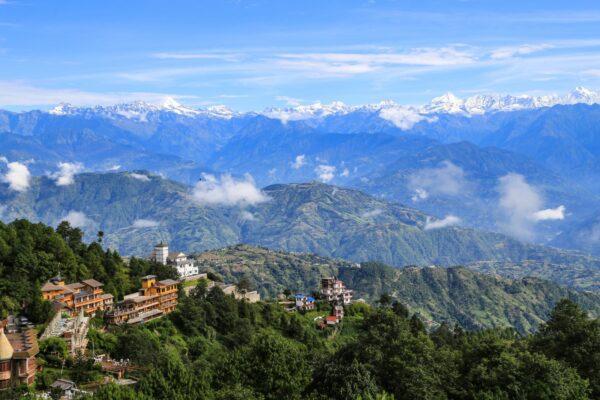 Ausblick auf Mount Everest von Nagarkot in Nepal